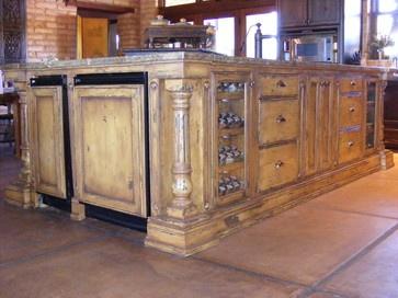 Rustic and Mediterranean mediterranean kitchen cabinets