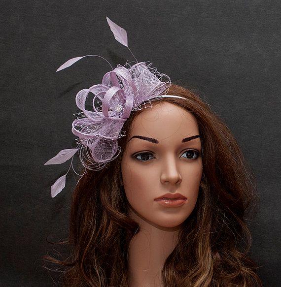 Purple lovely fascinator for weddings, parties, races.