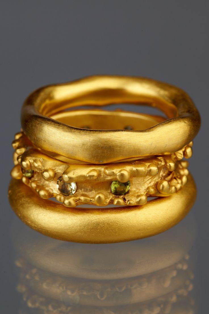 Yellow gold and tourmalines. www.andreagutierrezjewelry Andrea Gutierrez Jewelry Los Angeles - FB