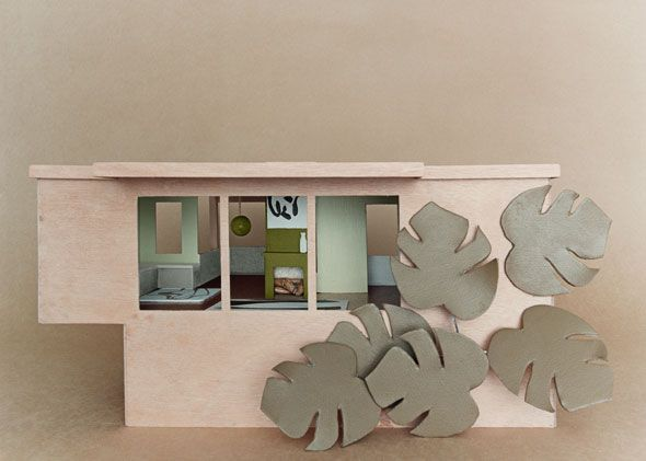 Soft pink meets dusty grey and striking yellow green in the Karen Walker Paints colour palette 2.