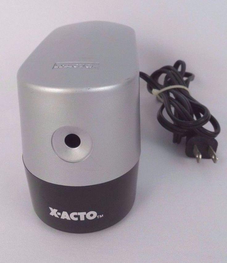 X-ACTO Electric Pencil Sharpener Silver Desktop Model #1924X #XACTO