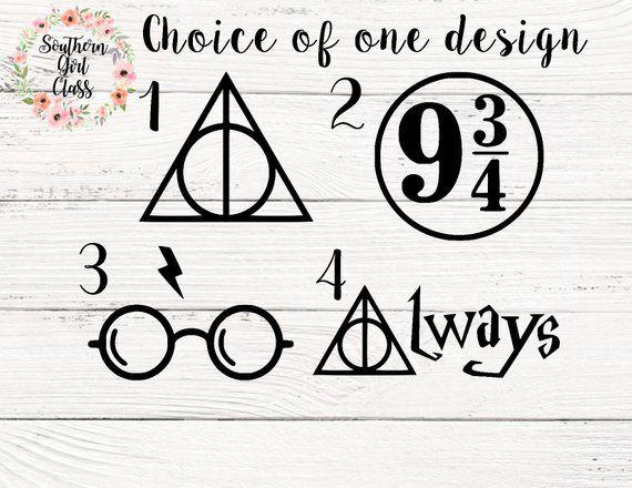 Harry Potter Symbol Decals, Harry Potter decals, deathly