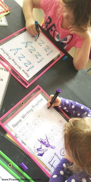 DIY frei bedruckbares Arbeitsblatt zur Namensverfolgung für Kinder ...