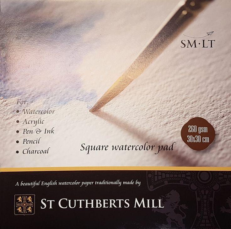 St. Cuthberts Mill akvarellipaperilehtiö square 30x30 cm - Watercolor paper pad, square. #watercolorpainting #akvarellimaalaus