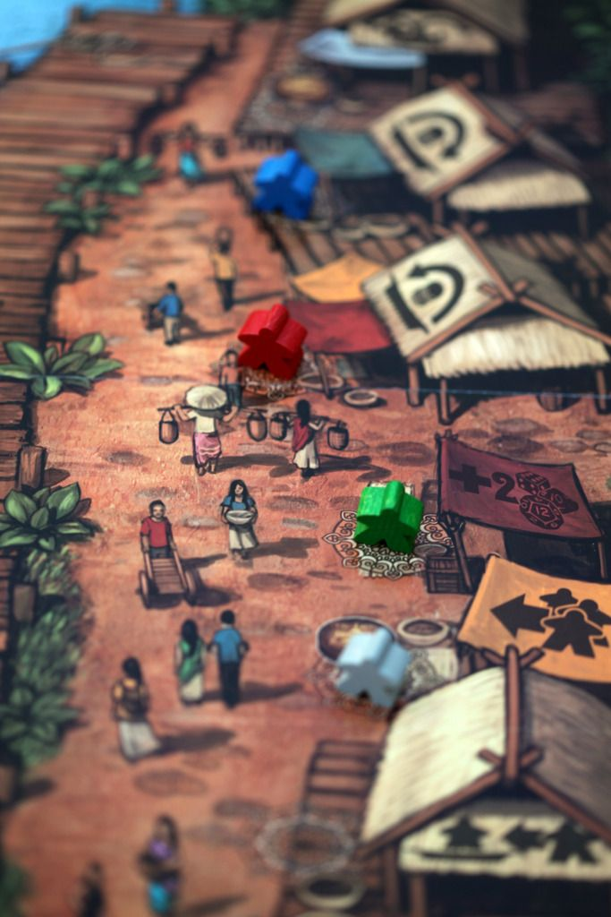 Floating Market | Image | BoardGameGeek #board #game #design