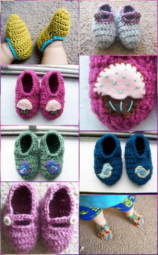 9406 best Crochet - Baby And Kids Shoes 7 ! - Free images on ...