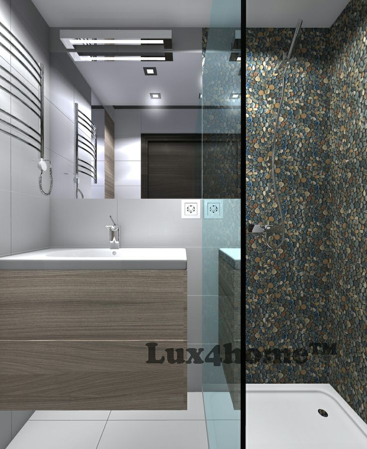 Pebble Tiles Dark Ocean 30x30 - Lux4home™. Shower Pebble