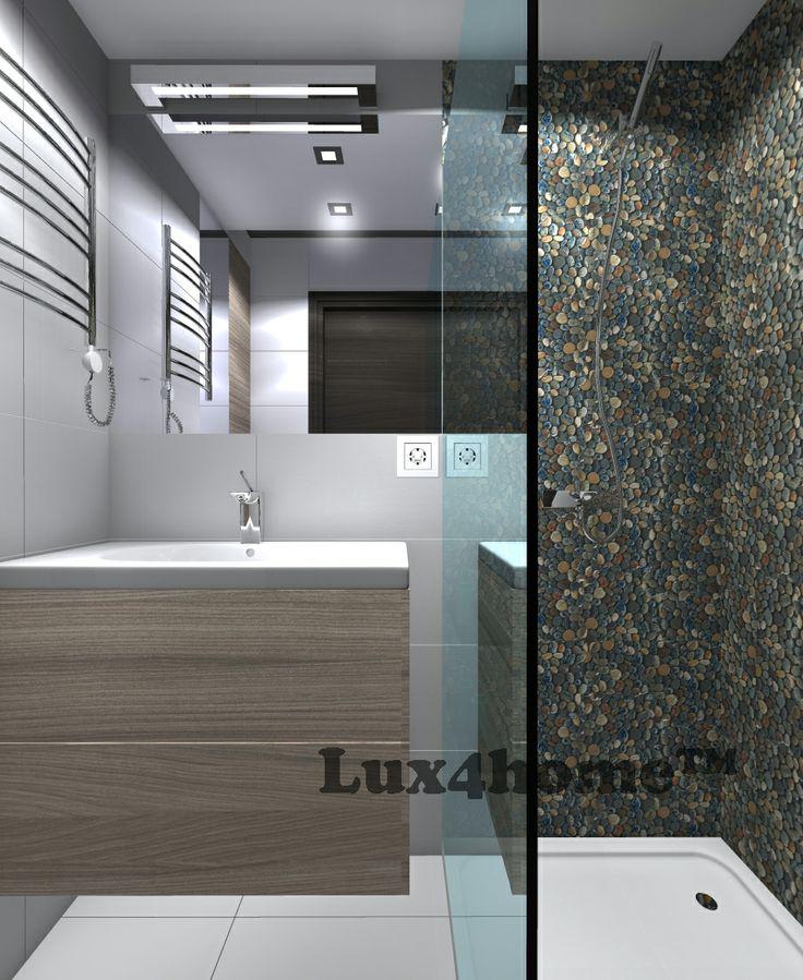 Pebble Tiles Dark Ocean 30x30 - Lux4home™. Shower Pebble