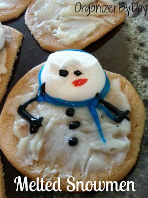 How to make melted #snowmen #Christmas #Cookies
