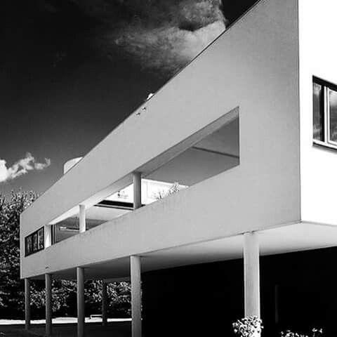 Villa Savoye designed by Le Corbusier