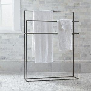 Crate & Barrel Jackson Standing Towel Rack
