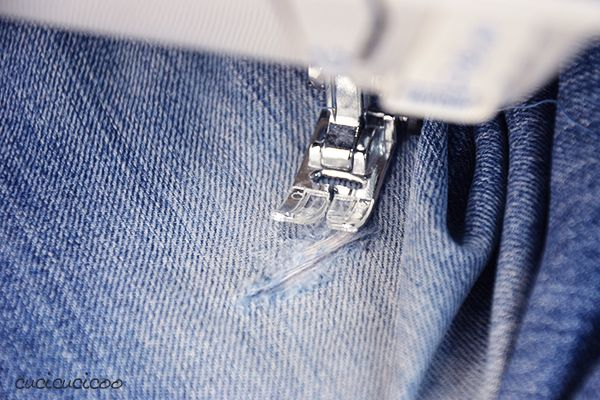 Backstitch Practice Tutorial: How to Darn Jeans (a.k.a. How can I save my favorite pair of jeans?!)