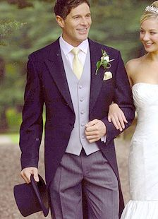 Evening Tail Suit (Coat, Waistcoat) Love this look for the groom