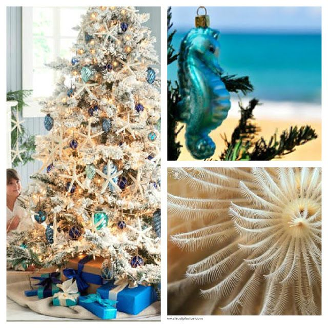 47 best Ocean Christmas images on Pinterest Nautical christmas - beach themed christmas decorations