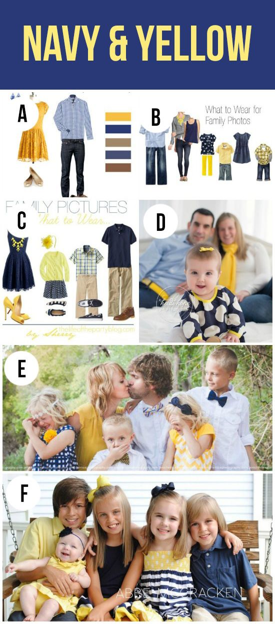 Lots of cute color combinations- what to wear for spring family pictures