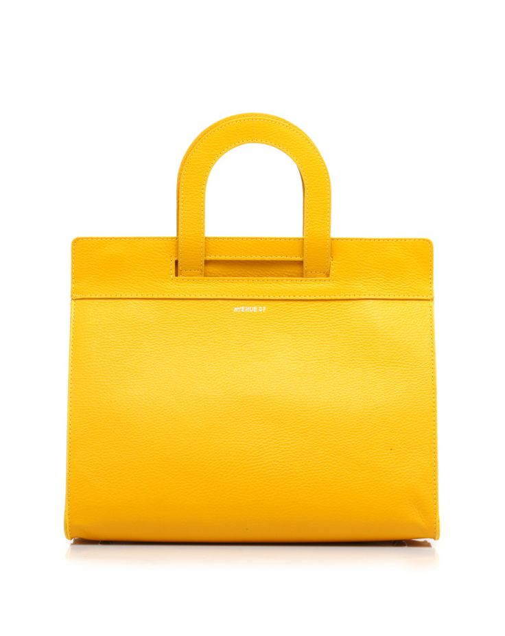 Leather bag with handles and detachable shoulder strap by #Avenue67