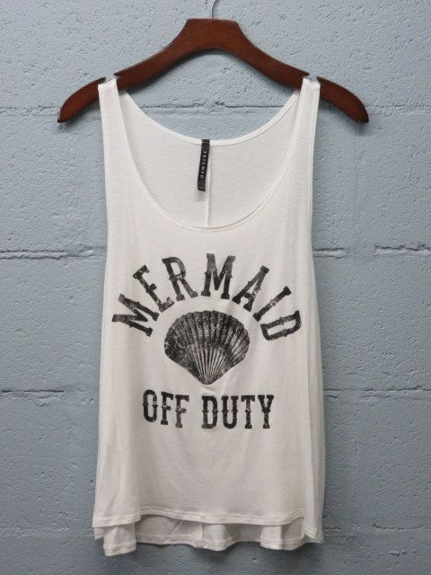 SALE Mermaid Off Duty Graphic Tank Top Mermaid by SavChicBoutique