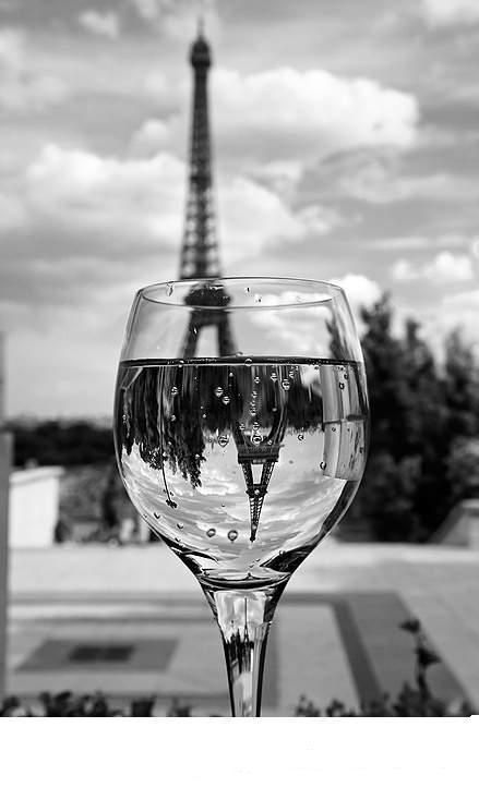 black and white glass eiffel tower | black and white, cold, eiffel tower, glass, paris - inspiring picture ...