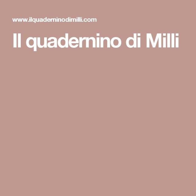 Il quadernino di Milli