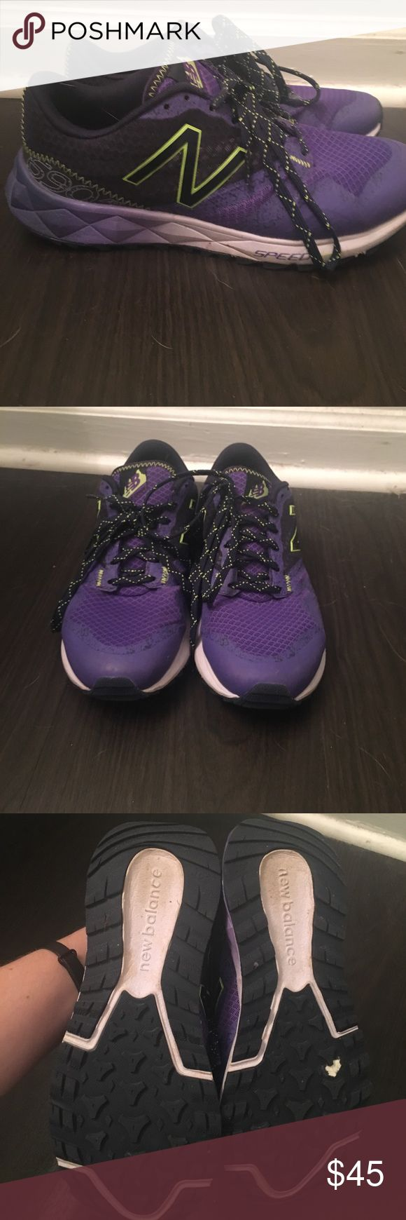 new Balance 690 GENTLY used New Balance 690 in purple and lime green New Balance Shoes Athletic Shoes