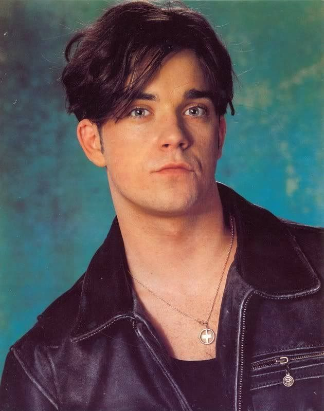 So young Robbie Williams in Take That
