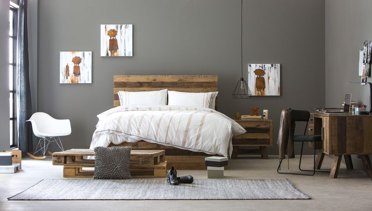 Industrial Modern: Brighton bedroom range.  (Available in stores and online mid-October.)