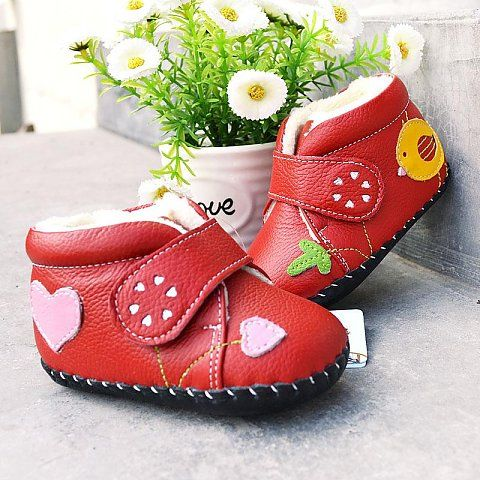 "Freycoo | Chirpy | Soft sole baby boots ""Chirpy"" baby girls boots are soft genuine leather winter boots with plush lining."