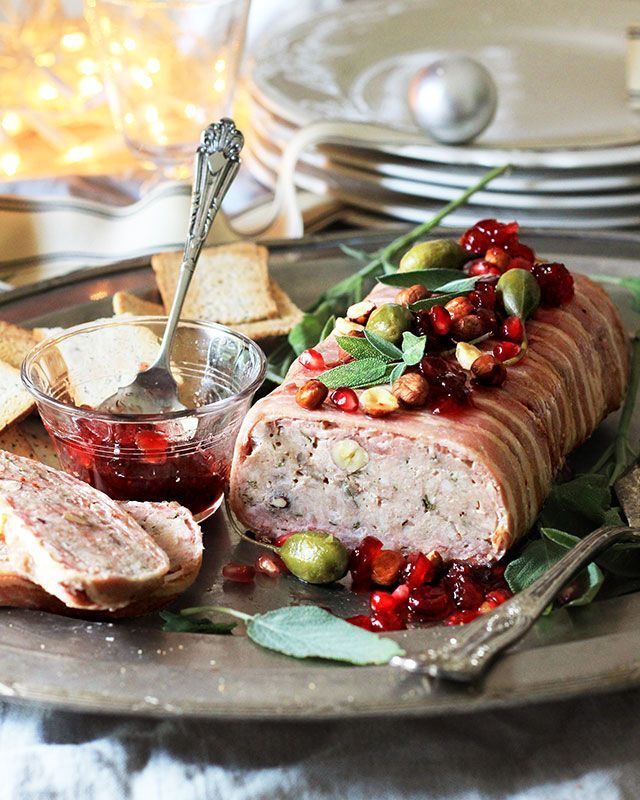 Christmas pork & Chicken Livers Paté with Hazelnuts, Sage and Brandy