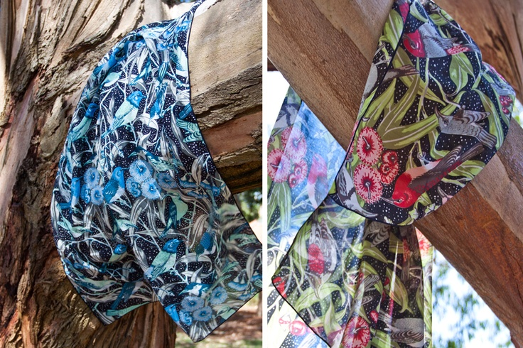 Utopia Goods Flowering Gum Cotton Silk Scarves (tree hugging)