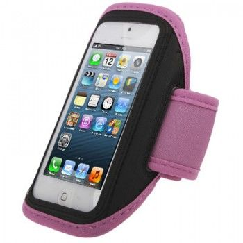 Armband Case with Earphone Slot for iPhone - Pink