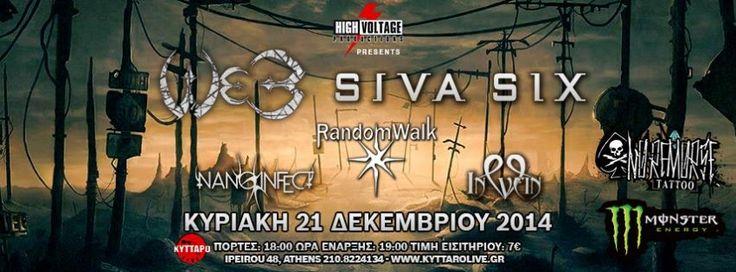 HIGH VOLTAGE proudly presents: W.E.B. / SIVA SIX / RANDOMWALK / NANO INFECT / IN VEIN VENUE : KYTTAPO LIVE(...