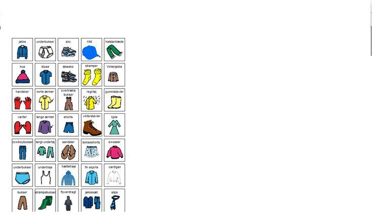Tøj piktogrammer