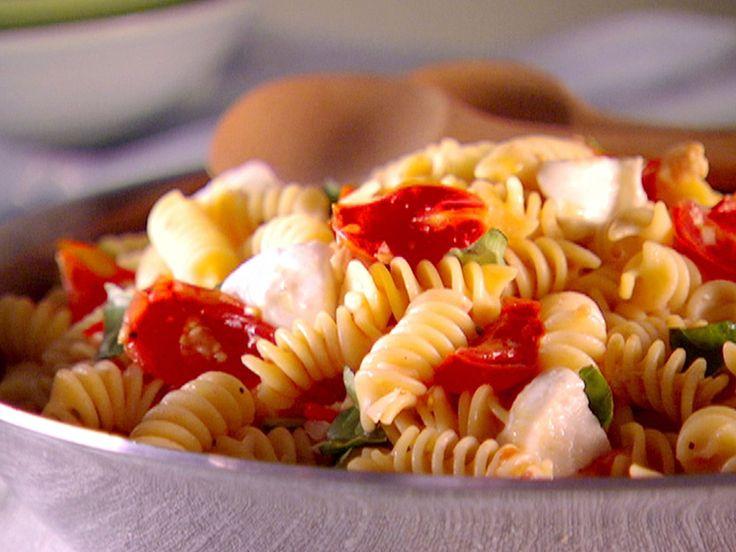 Fusilli alla Caprese recipe from Everyday Italian via Food Network--try with fresh egg pasta