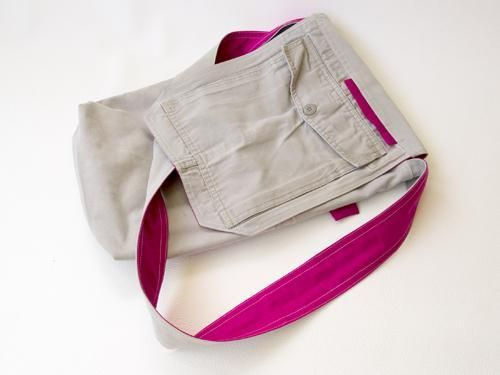 Recycle Cargo Pants to a Messenger Bag