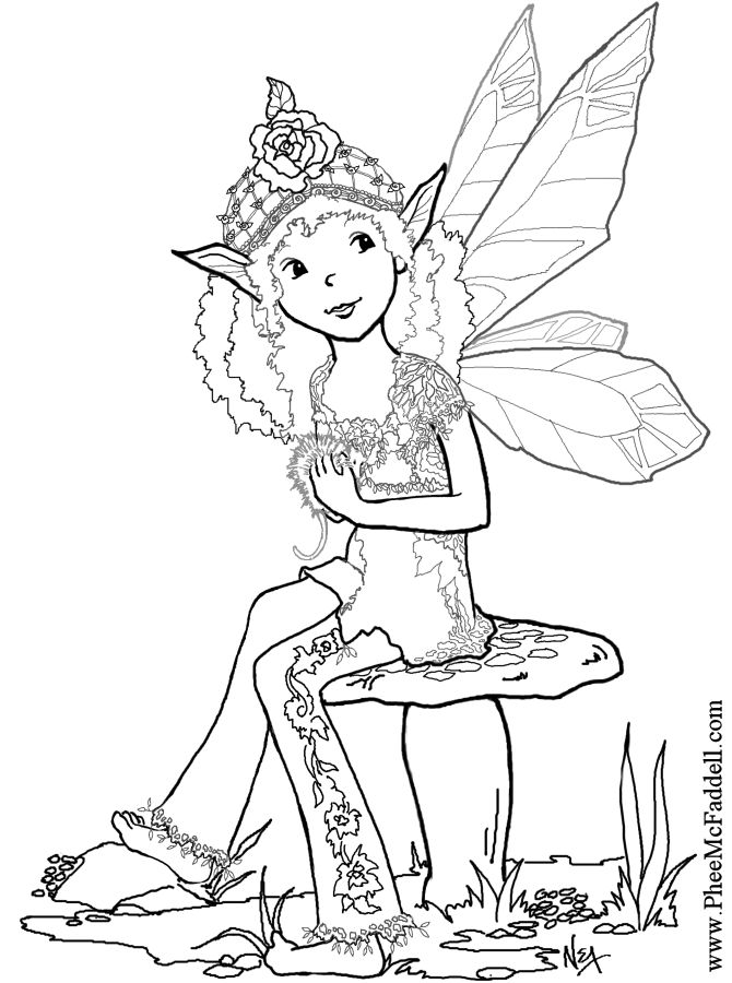 fairy coloring pages pinterest - photo#12