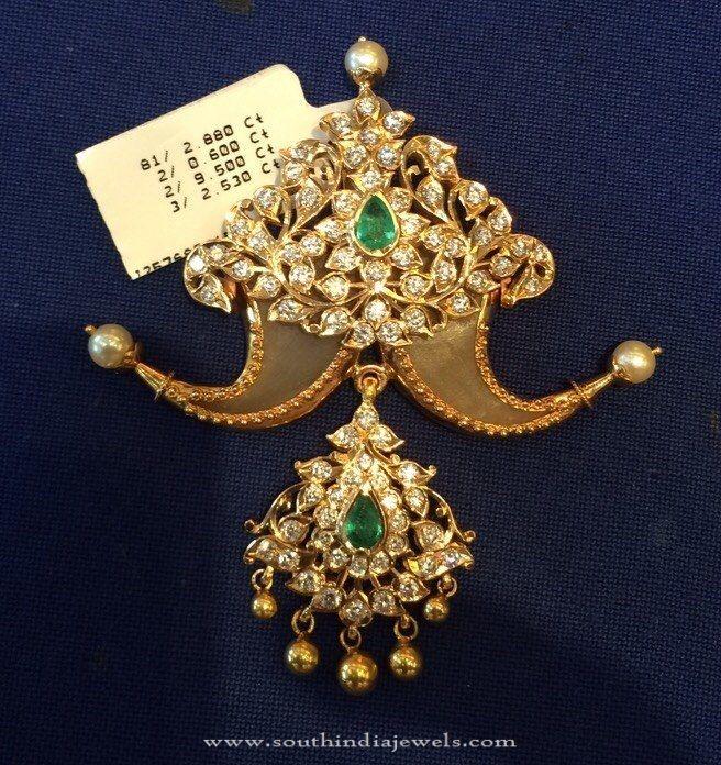 Diamond Puligore Pendant Design, Diamond Puligore Pendant Models, Diamond Pendant Collections.