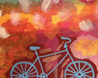 Abstract Bicycle Painting | bike painting, bicycle ...