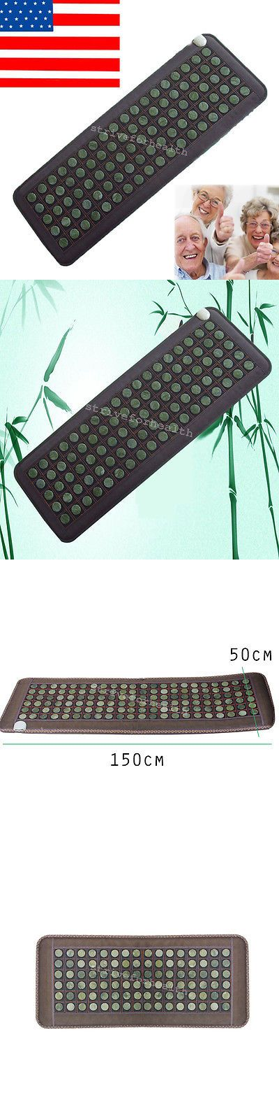 Massage Stones and Rocks: New Natural Jade Tourmaline Stones Infrared Heating Mat -> BUY IT NOW ONLY: $144 on eBay!