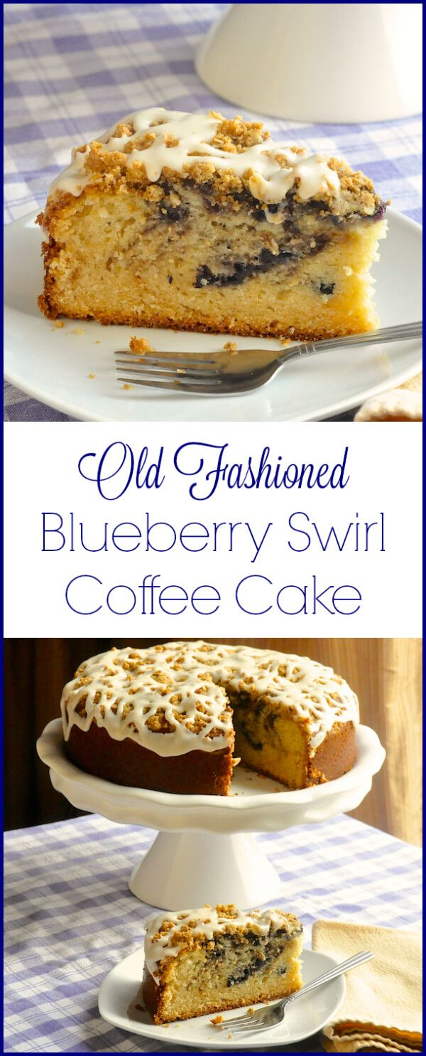 Blueberry Swirl Coffee Cake - A moist buttery coffee cake swirled with ...