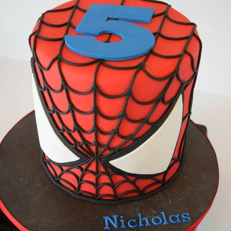 Spiderman Face Cake Design : 25+ best ideas about Spiderman Birthday Cake on Pinterest ...