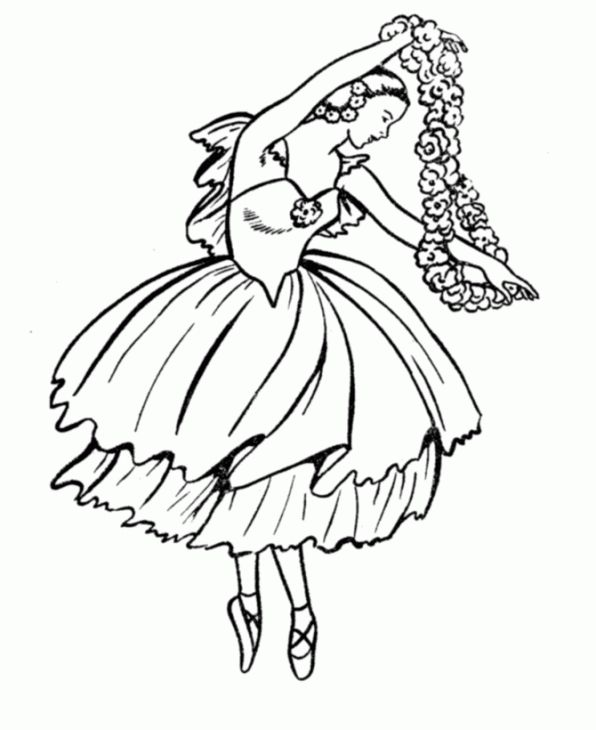 bluebonkers girl coloring pages ballerina girl with flowers free printable kids coloring sheets for girls