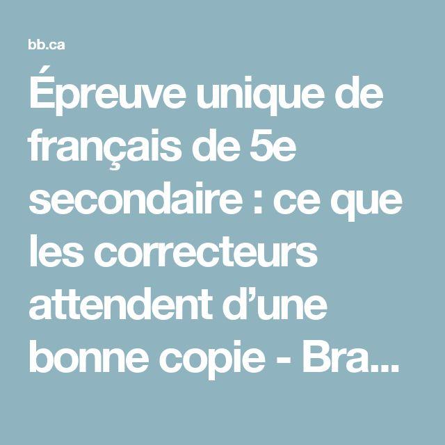 Épreuve unique de français de 5e secondaire : ce que les correcteurs attendent d'une bonne copie - Brault & Bouthillier