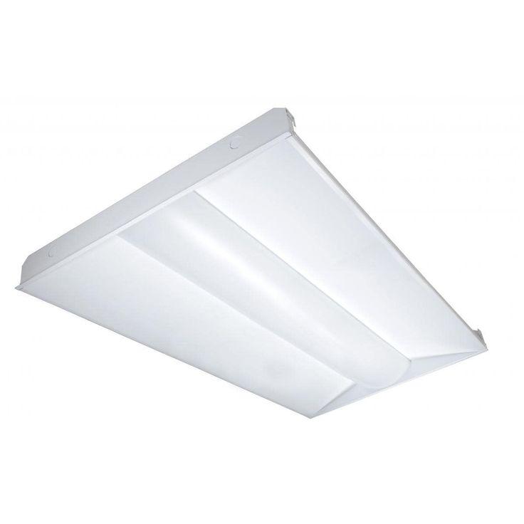 Nuvo Lighting 2ft X 4ft LED Troffer 65 Watt (White) (Aluminum)