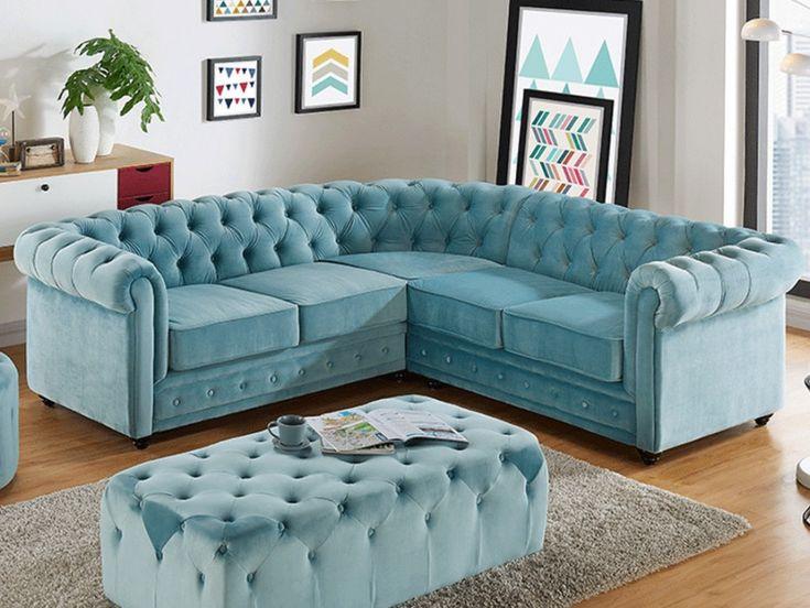 1000 id es propos de canap en velours sur pinterest sofa en velours ca - Canape d angle velours ...