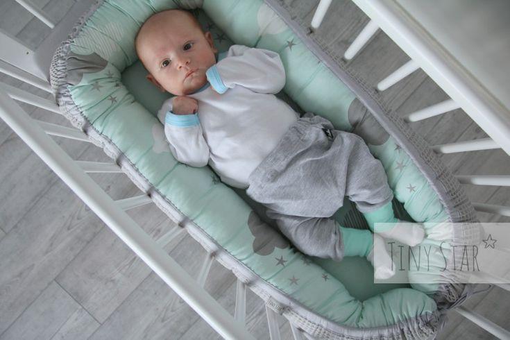 Kokon niemowlęcy w połączeniu tkaniny bawełnianej i cottonwaffla (100% bawełna) :)