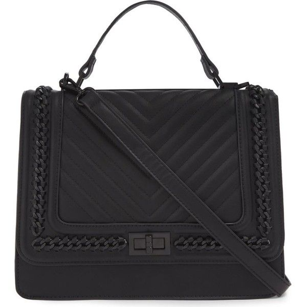 ALDO Trenalle quilted shoulder bag ($43) ❤ liked on Polyvore featuring bags, handbags, shoulder bags, quilted purses, vegan leather handbags, quilted shoulder bags, flap purse and aldo