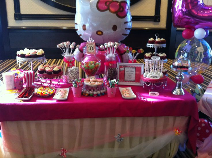 Hello Kitty Candy Bar chocolate and candy cupcakes and cake pops