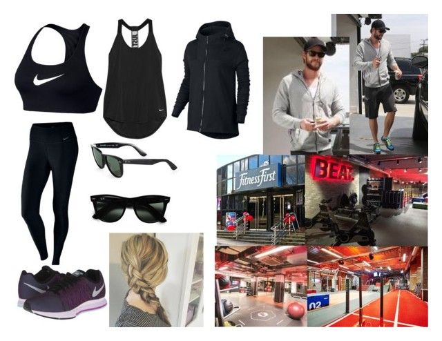 """Going to the Gym with Andrei"" by stylesroyals on Polyvore featuring moda, NIKE y Ray-Ban"