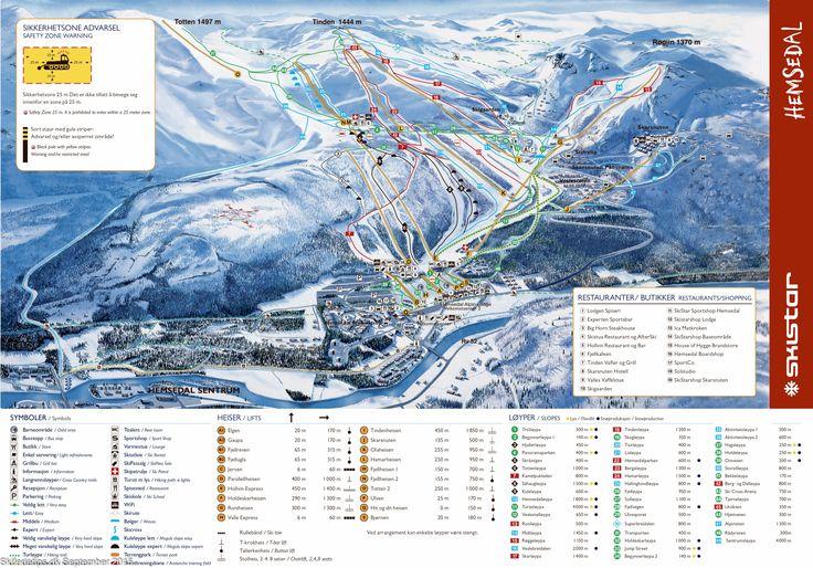 ❄ Updated #Hemsedal Piste Map. #skiing ❄ ➽ See high resolution at http://www.skiferietips.dk/norge/hemsedal/pistekort