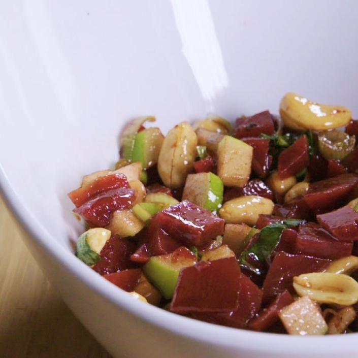 Salade de betteraves pour quand t'as faim et t'as rien